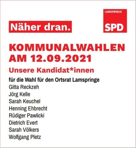 Kandidat*innen für die Wahl für den Ortsrat Lamspringe