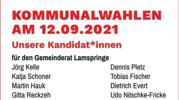 Kandidat*innen Gemeinderat Lamspringe